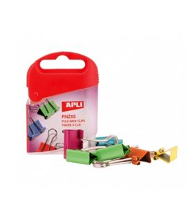 Pinza reversible 19mm colores surtidos 6 unidades apli 12675 - 12675