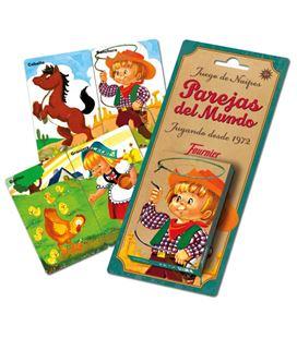 Baraja infantil 36 cartas parejas del mundo foliournier 23803 - 23803-PAREJAS_DEL_MUNDO_40C