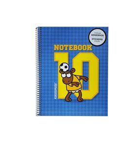 Cuaderno a4 5x5 120h futgol kukuxumusu miquelrius 2076