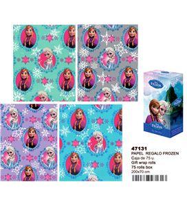 Papel regalo 70cmsx2mts frozen montichelvo 47131 47130