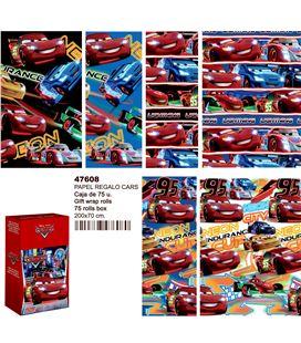 Papel regalo 70cmsx2mts cars montichelvo 47608