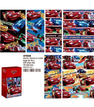 Papel regalo 70cmsx2mts cars montichelvo 47608 - 47608