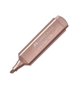 Marcador fluorescente metálico rosa textliner faber castel 154626 546269