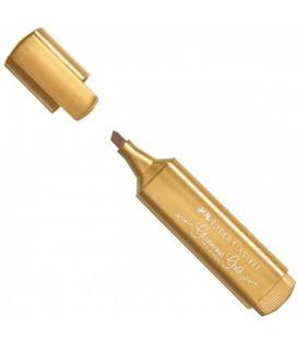 Marcador fluorescente metalico oro textliner faber castel 154650 546504