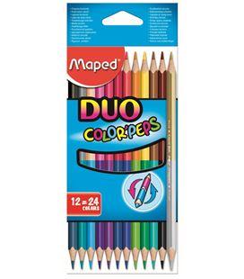 Pintura madera duo 12 unidades 24 colores maped 8296003 29600