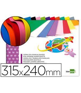 Goma eva bloc 10h 240x315 colores liderpapel 43368 tm06 - 43368