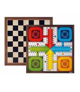 Tablero grande parchis 4j/ajedrez 40x40 cms foliournier 30040