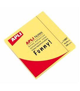 Nota adhesiva posit 75x75 100h amarillo brillante apli 11897