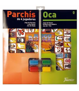 Tablero grande parchis 4j/oca+acces foliournier 29467