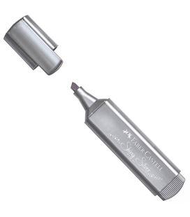 Marcador fluorescente metálico plata textliner faber castel 154661 546610