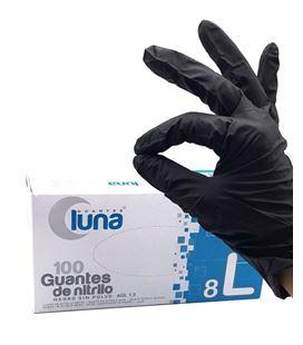 Guantes de nitrilo negro sin polvo talla l luna 892582 - 61961