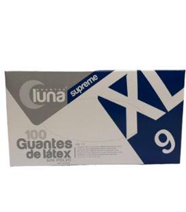 Guantes de nitrilo azul sin polvo talla 9xl luna supreme 890649 - 890649