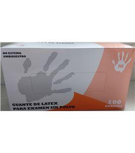 Guantes de latex sin polvo 100u t. mediana max gloves - 61955