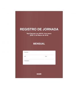 Libro de registro de jornada mensual dohe 09999 - 09999