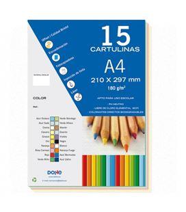 Cartulina a4 50h surtido colores pastel dohe 30111