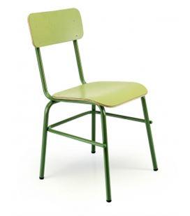 Silla mod.278 verde asiento y respaldo laminado verde tagar l-302 - 278430203
