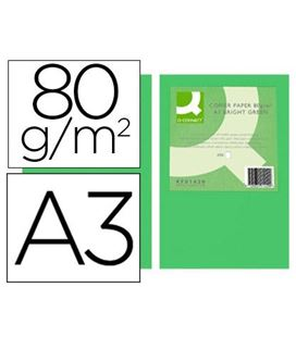 Papel a3 500h 80grs verde intenso q-connect kf18008 - 72195