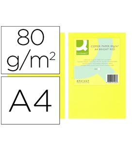 Papel a4 500h 80grs amarillo neon q-connect kf16266