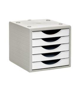 Modulo 5 cajones blanco/gris archivotec 4005 bl