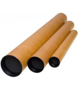 Tubo portaplanos carton tapas plástico largo 760mm ø 80mm distri 24318031 - 24318031