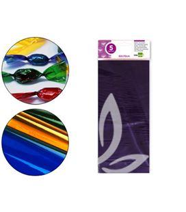 Papel celofan violeta 50x70cm 5 hojas liderpapel 75023 - 75023
