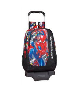 Mochila con carro grande spiderman super hero safta 611943313 - 611943313