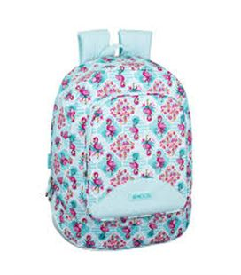 Mochila backpack moos flamingo turquoise safta 611918572 - 611918572