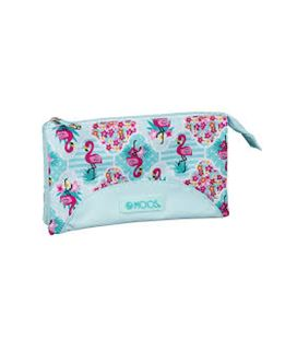 Estuche vacío triple moos flamingo turquoise safta 811918744 - 811918744