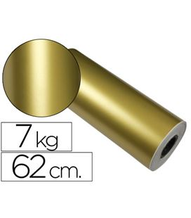 Papel regalo 62cmx200mts bobina oro impresma 7091 62