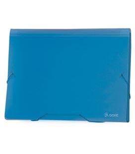 Clasificador acordeon pp azul translucido dohe 90616 - 90616