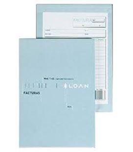 Talonario factura fº natural 50h original+2copias loan t-93 130937