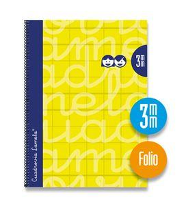 Cuaderno fº 3mm 80h 70g t.dura amarillo lamela 7fte003am