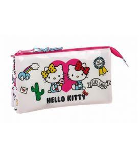 Estuche vacío triple hello kitty girl gang safta 811816744 - 811816744