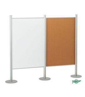 Mampara modular corcho doble cara tapizado verde 100x150cm faibo 612tco-4b - 612TCO-4V
