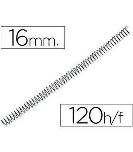 Espiral metalica 16mm negras (caja 100) paso 5:1 yosan 3034e4n16
