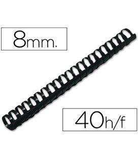 Canutillo plastico a4 8mm negro 100 unidades kf24018 q-connect 63449 - 63449