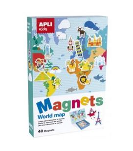 Mapa mundi magnetico 36x28 40 piezas apli 16494 - 000016494