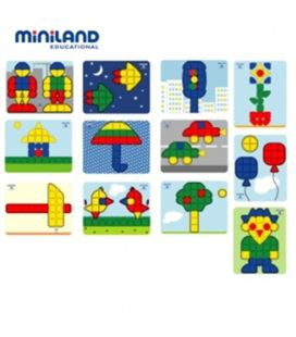 Lamina para superpegs 12 unidades primaria miniland 95076 - 95076