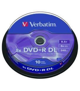 Dvd+r doble capa 8,5gb 8x bobina 10uds verbatim 1301-137 - 57630