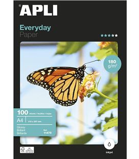 Papel a4 180g 20h foliotografico everyday apli 12080 - 12080