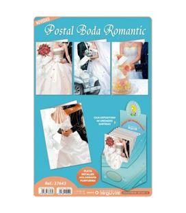 Postal de boda romantica surtidas arguval 37643 - 37643