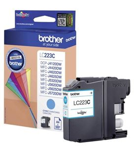 Cartucho inkjet cian brother lc-223c - 19120