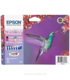 Cartucho inkjet pack 6 colores stylus epson c13t08074011 - 56897