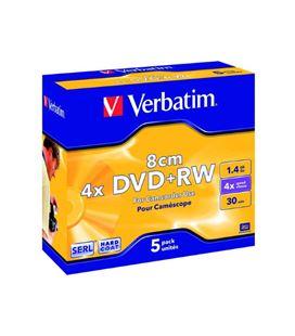 Dvd+rw mini 1,4gb 4x 8cm caja 5 unidades verbatim 43565 - 323273