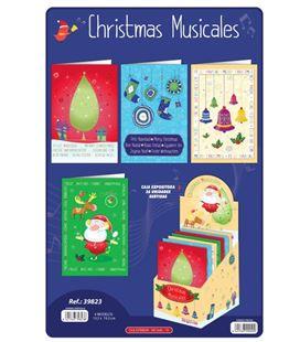 Tarjeta navidad musical surtido arguval 39823 - 39823