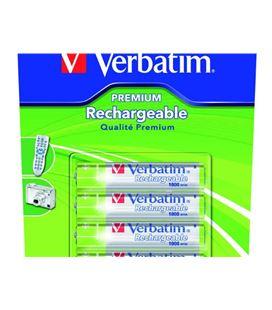 Pila recargable hr03 aaa blister 4 unidades verbatim premium 49942 - 401419