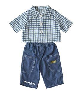 Conjunto pantalon vaquero para muñeco de 32cm miniland 5005031622 - 5005031622