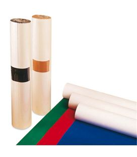 Papel rollo flocado adhesivo 5x0,5m marron apli 00047