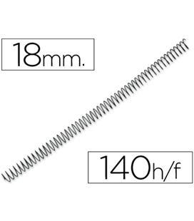 Espiral metalica 18mm negras (caja 100) paso 5:1 q-connect kf04433 - 44368