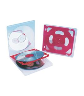 Funda fichero cd plastico extraduro para 4 cd. liderpapel - 24605